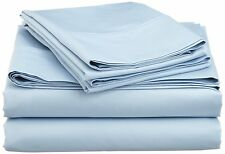 [SOLID BLUE]1000TC COMPLETE BEDDING SET 100% EGYPTIAN COTTON CHOOSE SIZE & ITEMS