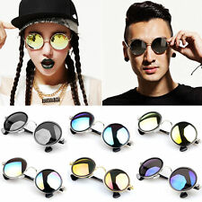 New Vintage Retro Men Women Round Metal Frame Sunglasses Glasses Eyewear BE