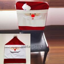 Decorate Christmas Home Kitchen Dinning Santa Claus Chair Back Decor Covers New