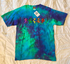 GRATEFUL DEAD Liquid Blue Dancing Bears Tie Dye T-Shirt NEW w/ Tags