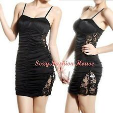 Sexy Backless Spagetti Strap Women's Clothing Ruched Mini Dress Clubwear Pads