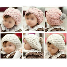Winter Warm Toddler Infant Knit Crochet Hat Pineapple Style Kids Girl Child  N3