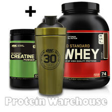 Optimum Nutrition Whey 5lb Whey Protein GOLD + CREATINE 634G + 500ML ON SHAKER