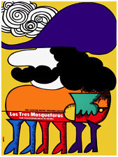 34.Art Decoration POSTER.Graphics to decorate home office.LosTtres Mosqueteros.