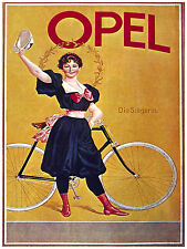 342.Art Decor POSTER.Graphics to decorate home office.Nouveau Opel Cycle Ad Art