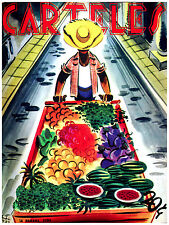 281.Art Decoration POSTER.Graphics to decorate home office.Carteles Fruit Vendor