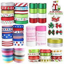 Ribbon Wired Bows Tie Gift Wrap Wedding Favors Christmas Snowman Holiday Winter