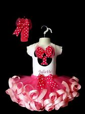 1st 2nd & 3rd Minnie Mouse Birthday Outfit ~ Top, Ribbon trim Tutu and Hairband