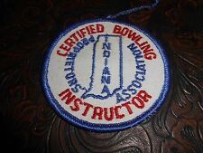 Vintage Certified Bowling Instructor Indiana Proprietors Association Patch [B95]