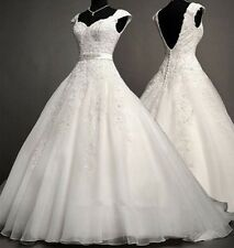 V Ncke White Ivory Wedding Dress Bridal Gown Custom Size 6/8/10/12/14/16/18/20++