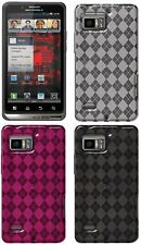 AMZER LUXE ARGYLE HIGH GLOSS TPU SOFT SKIN CASE FOR MOTOROLA DROID BIONIC XT875
