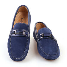 New Men Flats Slip-on Loafer Suede Leather Breathable Outdoor Driving Doug Shoes