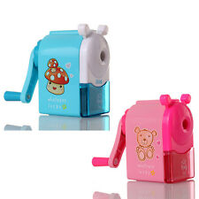 Pop Pencil Sharpener Hand Crank Sharpening Cute Cartoon Manual School Kids Gift
