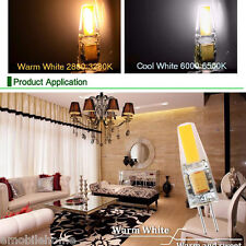 6pcs 3W Dimmable G4 LED COB Lamps 12V AC DC White Light Bulb Chandelier Lamps