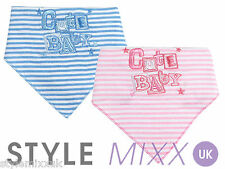 Baby Boys Girls Pink Blue Cute Baby Novelty Bandana Bib Infant Dribble Bib New