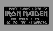 Iron Maiden Tee Shirt Band Music Concert heavy Metal Rock and Roll Sports Grey
