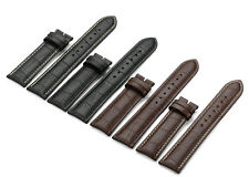 12mm-24mm Grain Genuine Calf Leather Strap Watch Band For Tissot Timex Weekender
