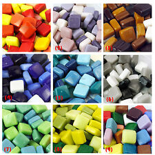 "100+ PCS 0.47"" 12mm Colors Stained Glass Mosaic Stone GEMS Multicolour 200g"
