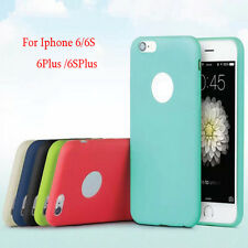 New Fashion TPU Silicone Rubber Soft Back Case Cover Skin For iPhone 6 6s Plus