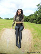 SALE Black Lycra Spandex Footed Leggings