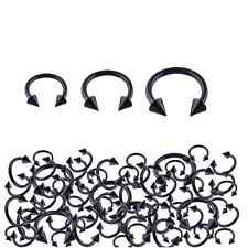 20pcs Stainless Steel Black Color Plated Spike Horseshoes Piercing Wholesale Lot
