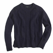 J.Crew pointelle cable navy  wool sweater  Womens size XS Worn Once