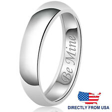 Sterling Silver 925 Solid Couples Be Mine Wedding Band Promise Ring