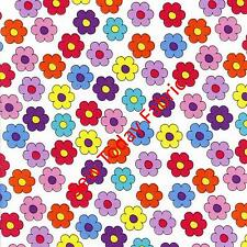 Tossed Flowers on White -Caterwauling Tales - RJR 0917-01 (sold by the 1/2 yard)