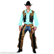 MENS Costume Fancy Dress Up SW Halloween Rodeo Cowboy Sz M,L,XL