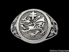 Vlad Dracula Order of the Dragon Signet Ring 925 Sterling Silver