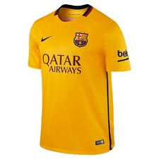 Nike FC Barcelona Season 2015-2016 Personalized Away Soccer Jersey Yellow