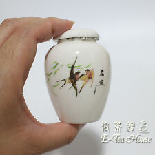 New Mini Asian Porcelain Tea Leaf Container / Jar / Caddy / Canisters 5cm