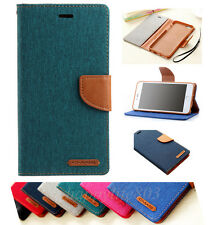 For Apple iPhone Wallet Flip Vintage Card Holder PU Leather Phone Case Cover QA