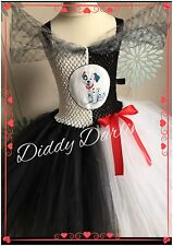 101 Dalmatians Tutu Dress Fancy Costume Handmade Cruella DeVille Tutu Dalmations