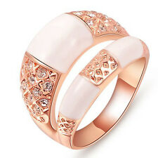 Classic 18k Rose Gold GP Swarovski Crystal Hot models jewelry rose gold ring