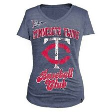 MLB  WOMANS BASEBALL CLUB Tee ~TWINS~  L  Officially  Licensed
