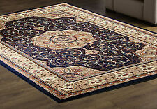 Blue Traditional Persian Oriental Design Easycare Rug XS-XXL Large NOW  50%OFF