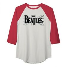 Beatles Union Jack Women's 3/4 Sleeve Raglan T-Shirt