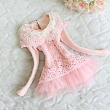 Fashion New Childrens Baby Toddlers Girls Lace Dress Kids Floral Autumn Clothing