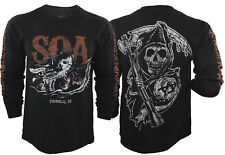Authentic Sons Of Anarchy Charging Reaper Long Sleeve T-Shirt, SOA, SAMCRO, M-3X