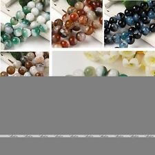 Colors 12/14mm Agate Faceted Round Gemstone Loose Bead Jewelry Fashion Diy