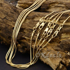 New 2mm Snake Chain 18K Yellow Gold Plated Snake Chain Pendant Necklace Jewelry