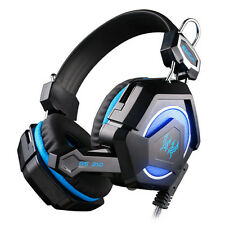 GS210 Stereo Games Headphone Headband Headset with Mic LED light For PC earphone