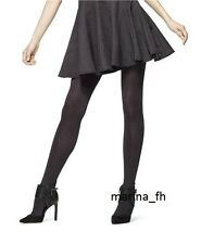 HUE 15823 FLECKED OPAQUE TIGHTS WITH CONTROL TOP S/M, M/L ALMOST BLACK NWT
