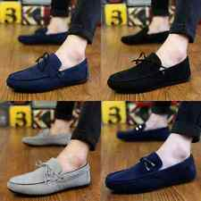 Men's Casual Breathability Canvas Slip Ons Loafers Driving Moccasins Shoes Q06