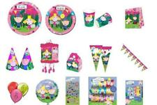 BEN & HOLLY'S LITTLE KINGDOM Childrens Birthday Party Items Plates Cups, Pinata