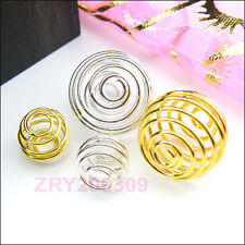 Lantern Spring Bead Cages 9mm/15mm Silver,Gold R0182