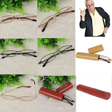 Reading Glasses Spectacle Diopter Presbyopia Eyeglass (+1.0- +4.0 +Pen Tube Case