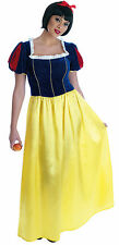 Ladies Full Long Length Snow White Fancy Dress Costume Outfit 8-26 Plus Size