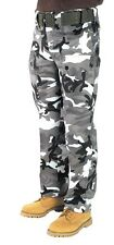ARMY PANTS MENS & CHILDRENS CARGO STYLE WOODLAND SKY URBAN CAMO OLIVE BLACK COL